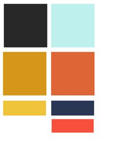 My wedding color palette