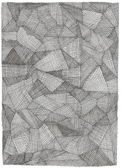 abstract pen and ink drawing black and white by WelsaStoneStudio