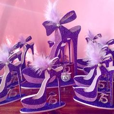 Black Centerpieces, Sweet 16 Masquerade, Bling Shoes, Decorated Shoes, Sweet 15, 15th Birthday, Baby Shark, Sweet Sixteen, Creative Home