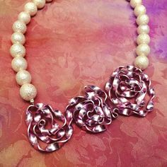 A lovely rose wire handmade necklace from our Winter collection  such a beautiful & neutral piece  Shop it now via or profile link!  #pictordesign #handmade #jewelry #wiredesign #handmadenecklace #necklace #pearl #rose #white #handmadejewelry #unique #handpainted #silk #handcrafted #art #craft #fashion #fahiondesign #instafashion #style #design #ljubljana #madeinslovenia #pictorshop