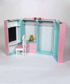 Look at this Pink Bedroom Trunk Set for 18'' Doll on #zulily today!