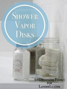 Shower Vapor Disks with Essential Oils