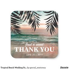 """Tropical Beach Wedding Favor 