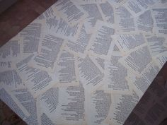 Book Decoupage Coffee Table