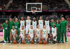 Team Brazil poses for a photo before playing against France during Women's Basketball on Day 1 of the London 2012 Olympic Games at the Basketball Arena on July 28, 2012 in London, England.