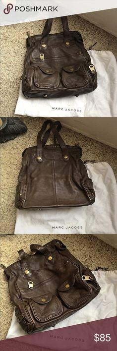 Marc by Marc Jacobs Big Leather Tote Bag Marc by Marc Jacobs Big Brown Leather Tote Bag. Good condition & Dust bag included. Marc by Marc Jacobs Bags Totes
