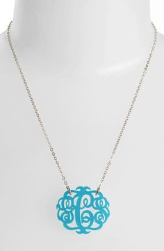 Create your own personalized monogram pendant necklace