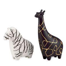 kate spade new york Woodland Park Zebra & Giraffe Salt & Pepper Set... the elephant set is adorable too :)