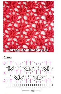 awesome crochet stitch ~ **This is a pretty stich** Crochet Video, Crochet Diy, Crochet Motifs, Crochet Instructions, Crochet Diagram, Crochet Stitches Patterns, Crochet Chart, Love Crochet, Beautiful Crochet