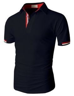 Doublju Fashion Pique Cotton Polo Shirts with Short Sleeve (KMTTS0115)   doublju Camisa Tipo a25691d67f024