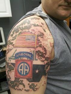 Another proud member of the 82nd Airborne. #InkedMagazine #airborne #tattoo #tattoos #military