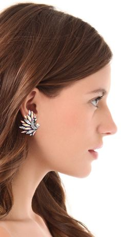 Jenny Packham Icarus Clip On Earrings I | SHOPBOP