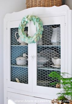 Farmhouse Dining Hutch, mine could benefit from coat of white paint