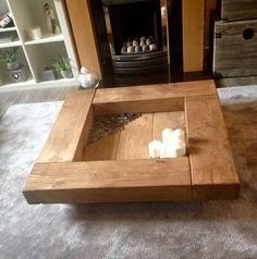 Oak sleeper Coffee Table. wooden coffee table table wood