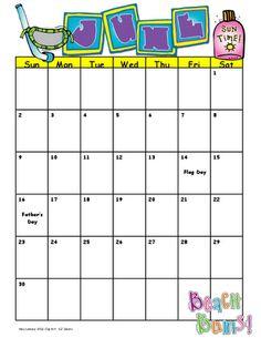 June Calendar (free)