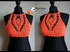 How to crochet a summer halter top, women, toddlers, teen, preteen, free pattern - YouTube