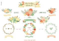 Check out Floral Wedding Collection 3 by Delagrafica on Creative Market