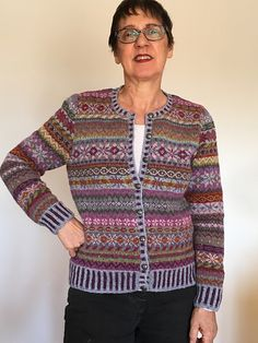 Ravelry: Project Gallery for Orkney pattern by Marie Wallin Diy Knitting Cardigan, Rowan Knitting, Hand Knitting, Fair Isle Knitting Patterns, Fair Isle Pattern, Knit Patterns, Cardigan Design, Fair Isles, Crochet Magazine