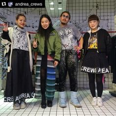 #Repost @andrea_crews  Wut Berlin crew Total look Andrea crews ! #lovemycrew @wutberlin  Thank you for visiting us! by yannatokyo