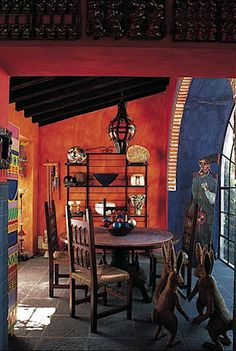 Mexican decor: Cocinas Mexicanas Tradicionales - All photos © Melba Levick Mexican Interior Design, Mexican Designs, Mexican Hacienda, Hacienda Style, Spanish House, Spanish Style, Spanish Revival, Spanish Colonial, Southwest Decor