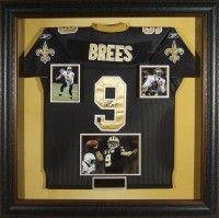 framed autographed jersey
