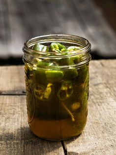 Quick Bourbon-Pickled Jalapeños via Country Living. Wow.