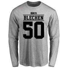 Brian Blechen Player Issued Long Sleeve T-Shirt - Ash