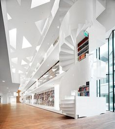 @kaanarchitecten's design for the Educational Center at Erasmus University Medical Center integrates the university's teaching facilities and corresponds to the surrounding vernacular. : Bart Gosselin. #architecture #interior #design #interiordesign #university #netherlands... - Interior Design Ideas, Interior Decor and Designs, Home Design Inspiration, Room Design Ideas, Interior Decorating, Furniture And Accessories