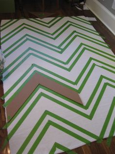 @Sarah Bartels - DIY chevron rug... the $50 price point makes this project a must do!