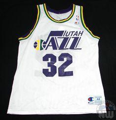 Karl Malone  32 Utah Jazz Replica Jersey By Champion Size 44 Large Pit to 331f35090