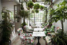 10 bars et restaurants tropicaux autour du monde  Bourne & Hollingsworth, Londres   42 Northampton Road, EC1R 0HU, www.bourneandhollingsworth.com