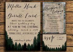 Printable Woodland Wedding Invitation Suite  Rustic by TMDesignCo