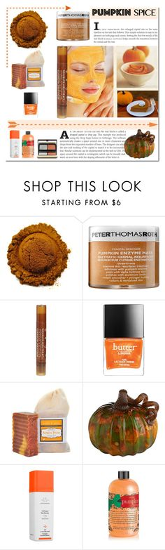 """Pumpkin Spice Beauty"" by gabbyramosbr ❤ liked on Polyvore featuring beauty, Peter Thomas Roth, Intelligent Nutrients, Butter London, Drunk Elephant, philosophy, Kevyn Aucoin, contestentry, polyvoreeditorial and polyvorecontest"