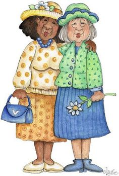 - Senior Moments by Laurie Furnell - Jeanette on Picasa Web Albums Image Girly, Art Impressions Stamps, Old Folks, Digi Stamps, Whimsical Art, Illustrations, Old Women, Getting Old, Cartoon Characters