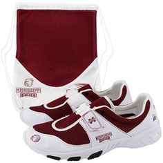 bulldog shoes | Mississippi State Bulldogs White-Maroon PIRO Tennis Shoes