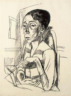 Max Beckmann, Bildnis der Tänzerin Sent M'Ahesa, 1921