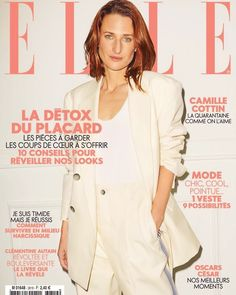 Camille Cottin - Elle Magazine Cover [France] (1 March 2019) - FamousFix French People, Mode Chic, France 1, Elle Magazine, Camille, Suits For Women, Style Icons, Vogue, Elegant
