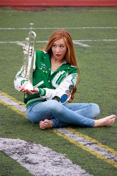 Letterman jacket band trumpet senior pictures, this girl's expression is too cute! Band Senior Pictures, Abs Pictures, Senior Pictures Hairstyles, Couple Senior Pictures, College Senior Pictures, Country Senior Pictures, Senior Pictures Sports, Senior Picture Outfits, Senior Photos