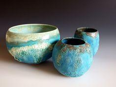 Jan Lewin-Cadogan Ceramics Ideas, Metal Clay, Ceramic Pottery, Stoneware, Glaze, Primitive, Bowls, Beach House, Polymer Clay