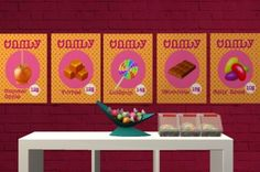 Candy store posters (BV Travel poster, slaved posters here!) DL Font by ashasims! :)