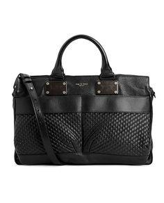 rag & bone Official Store, Medium Pilot - Textured Black, black fl, Womens : Accessories : Handbags : Small Pilot, W235109LX