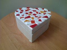 Tile Mosaic top heart shaped box - £9.50 (free shipping) from Let's Be Crafty #Craftfest