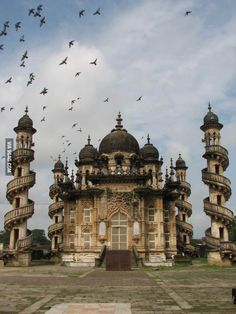 The gorgeous Mahabat Maqbara palace in India. That is unbelievable!