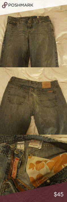 Do not fit anymore 100% cotton Good condition  Dungarees Grand Wonder B  Extra long U.S. made Size 8/29 Lucky Brand Jeans Boot Cut