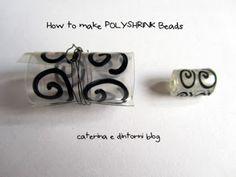 Caterina e dintorni: Come fare un Braccialetto di POLYSHRINK / Easy-to-make *Polyshrink bracelets TUTORIAL