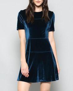 683cdbc864 ZARA VELVET DRESS – SHOPKLA Zara Velvet Dress