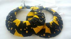 Check out this item in my Etsy shop https://www.etsy.com/listing/479919990/yellow-black-ankara-hoop-earrings