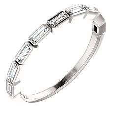 PLATINUM Diamond Baguette Cut Band white/yellow/rose gold also available) Ideal as a skinny wedding band, Stackable Band, or Dainty Stand Alone piece! Available in Ring Sizes Clarity is Color is Near Colorless (Containts Nine STRAIGHT BAGUETTE Baguette Diamond Band, Diamond Bands, Diamond Wedding Bands, Diamond Anniversary Bands, Wedding Anniversary Rings, Wedding Rings, Eternity Bands, Colored Diamonds, Band Rings