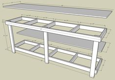 Build diy plans for workbench with storage pdf plans wooden cnc wood shop – Workbench With Storage, Garage Workbench Plans, Garage Bench, Building A Workbench, Workbench Designs, Building A Garage, Diy Workbench, Workbench Organization, Garage Storage