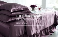 Feel inspired in the throws of your bedroom with Manito Silk. #ManitoSleeps #BedBehavior